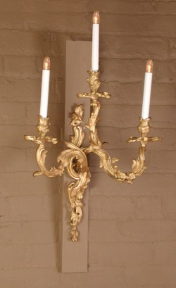 Pair Louis XV Bronze Sconces