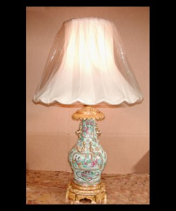 Chinese Rose Medallion Lamps