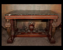 French Empire Mahogany Center Table