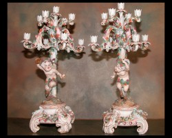 Pair of 19th Century Candelabra