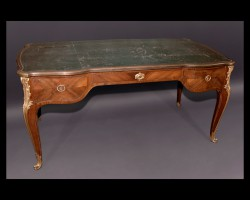 "Louis XV Bureau Plat Signed ""F. Linke"""