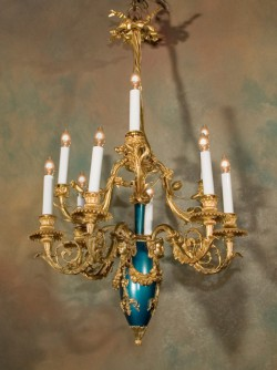 Napoleon III Bronze Chandelier