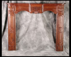 Louis XV Walnut Mantel