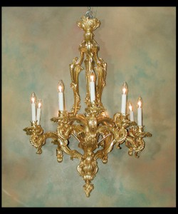 Louis XV Bronze d'ore Chandelier