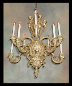 Louis XIV Bronze Chandelier