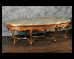 Louis XV Center table with a Marble Top