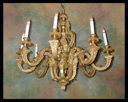Louis XIV Bronze d'ore Chandelier