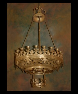 19th Century Bronze Gasolier