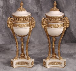 Pair of Louis XVI Cassolettes