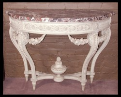 One of a Pair of Louis XVI Painted Consoles