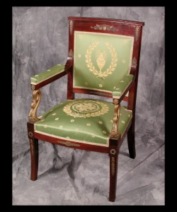 Pair of French Empire Armchairs