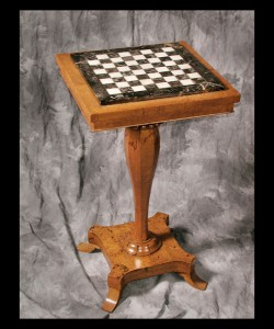 Charles X Pedestal Game Table
