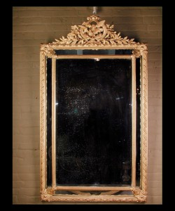 Louis XVI Gold Leaf Mirror