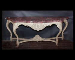 Painted Regence console with marble top