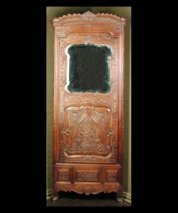 Louis XV Walnut Corner Cabinet
