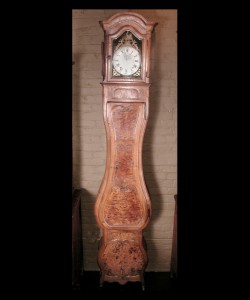 Louis XV Walnut Grandfather Clock