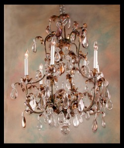 Louis XV Iron &amp; Crystal Chandelier