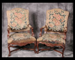 One of a Set of Five Louis XV Armchairs
