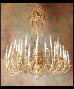 Napoleon III Ormolu Chandelier