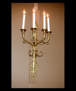 Empire Bronze Sconces