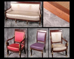 Second Empire Salon Set - Six Armchairs - Four Side Chairs - One Sofa