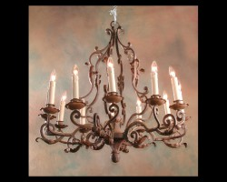 Louis XV Wrought Iron Chandelier