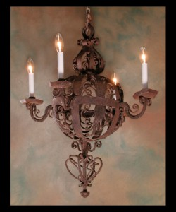 Italian Iron Chandelier