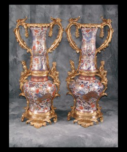 Pair of Japanese Arita Vases