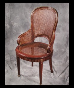 One of a Set of Eight Louis XVI Armchairs