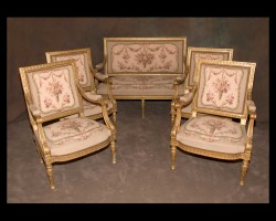 Louis XVI 5 Piece Salon Set