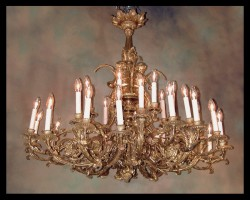 Louis XVI Bronze d&#039;ore Chandelier