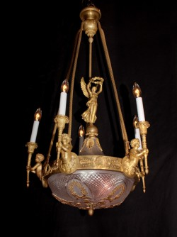 French Third Empire Bronze Chandelier
