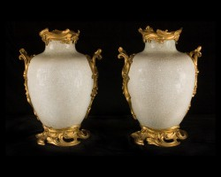 18th century Chinese Craqule Vases