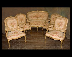 Louis XV 5 Piece Salon Set