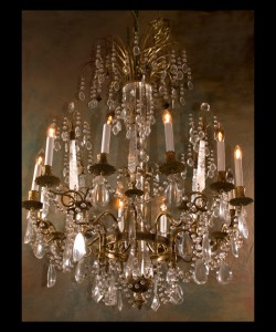 Napoleon III  Rock Crystal Chandelier