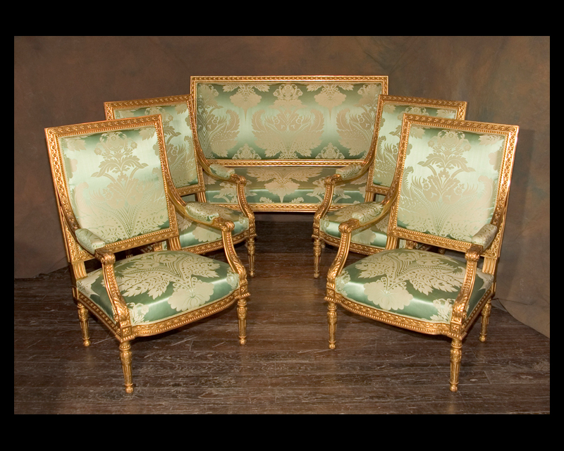 Louis xvi salon set french antique shop - Salon louis xvi ...