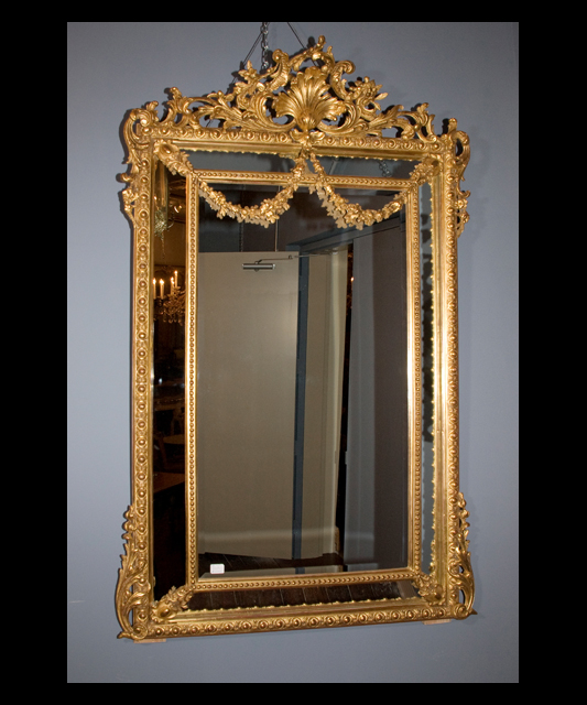 Pair of napoleon iii mirrors french antique shop for Antique french mirror