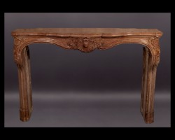 Louis XV Stone Mantel