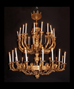 Italian Empire Two Tiered Chandelier