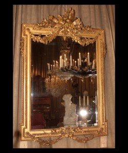 Louis XVI Gold Leaf Beveled Mirror