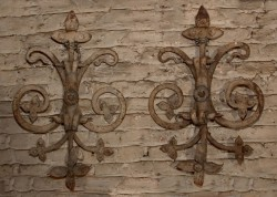 Pair of Italian Iron Wall Sconces