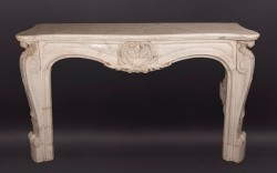 Louis XV Marble Mantel