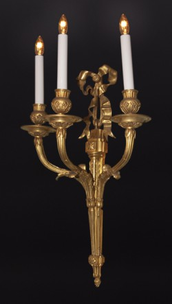 Four Louis XVI Bronze D'ore Sconces