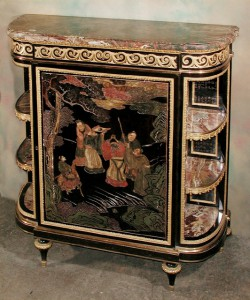 Pair of Napoleon III Chinoiserie Cabinets
