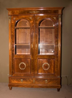 Empire Mahogany Book Case