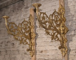 Pair of Belle Epoch Bronze Sconces