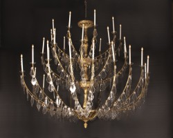 Large Belle Epoch Chandelier