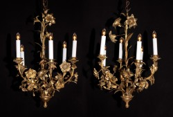 Belle Epoch Floral Chandeliers (pair)
