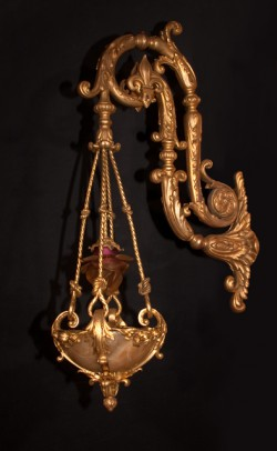 Alabaster Bronze d&#039;ore Sconces