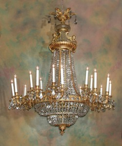 Spanish bronze chandelier